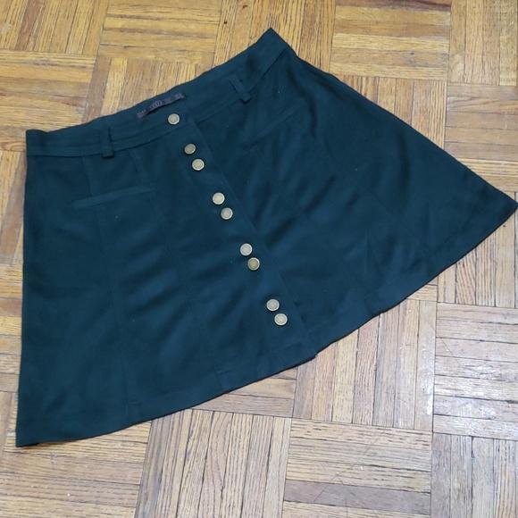 e9b2b40ddc27 Zara Skirts | Forest Green Mini Skirt Faux Suede | Poshmark